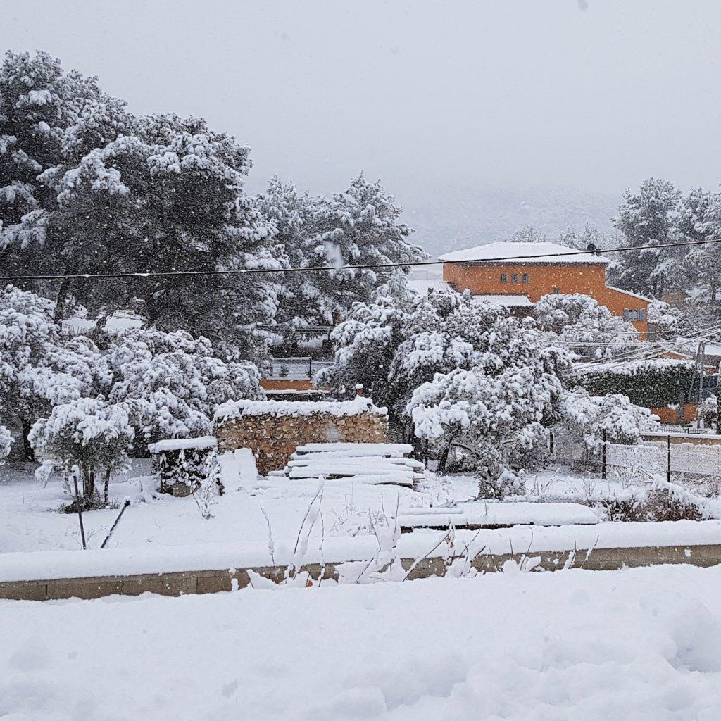 villa de bouc bel air 13320 sous la neige